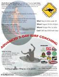 Australian Surf Academy Presents a 2 Day Advanced Surf Clinic