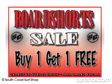 South Coast Surf Shop Buy 1 Boardshort Get 1