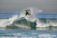 Unknown surfer in contest