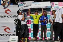 SURF NEWS - KOLOHE ANDINO CLAIMS RIP CURL GROMSEARCH NATIONAL 2009 TITLE at SALT CREEK