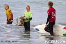 Kody Clemens (green singlet), son of pro surfer Kenny Clemens waits for his heat.