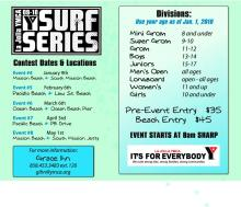 YMCA Surf Series in Mission Beach this Saturday January 8th