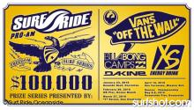 Surf Ride is proud to present the 100K Freedom Surf Series by Vans for 2010