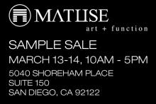 SALE - MATUSE WETSUIT SAMPLE SALE on MARCH 13th and 14th
