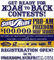 Surf Ride 100K Pro-Am Running April 3 and 11th in OC and SD