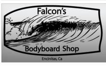 Grand Opening of FALCON'S Bodyboard Shop in Encinitas on Saturday April 3rd