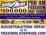 Surf Ride 100K Vans Pro-Am this Sunday April 11th in Mission Beach