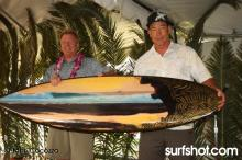 Aaron Chang & Wade Koniakowsky at UCSD Luau and Longboard Invitational at Scripps Pier by Surf Photographer John Cocozza