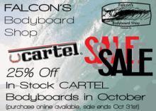 Cartel Bodyboards October Sale at Falcons Bodyboard Shop