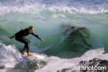 Carly Wilson @  Steamer Lane by pro surf photographer Corrie O.