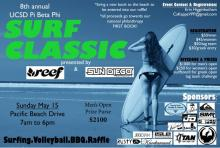 Sunday May 15th is Pi Phi 8th Annual Surf Classic
