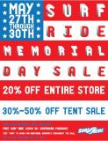 Surf Ride Memorial Day Sale