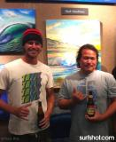 Patrick Parker and Clark Takashima at the Wyland Gallery in Haleiwa