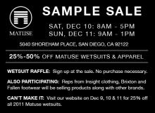 Matuse Sample Sale