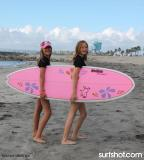 Chick Sticks Hoochie Mama Fun Board Std Size 6.6 x 21.75 x 2.75...Hoochie Mama.  A Poly Fun Board Not Foam!!  Learn in style on a board that's so forgiving you can ride this in white wash and then open face as you progress.  This is a performance board with a lot of R&D put in to it to make it girl friendly.  The pulled in nose and slightly narrower tail allow you to turn and progress on a fun board shape.