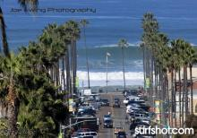Downtown OB yesterday by surfphotographer Joe Ewing