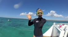 Bethany Hamilton goes swimming with sharks filmed with Go Pro Hero 2 HD