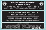 Matuse House Warming & Sample Sale