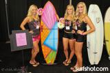 Chick Sticks Best of Show Entry and the Chick Sticks Bomb Squad Girls.  Vixen 5 Fin Option Performance Fish.  Photo: Chris Kimball www.chicksticksbylola.com