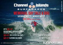 Channel Islands Surfboards SB Memorial Day Sale & BBQ