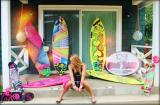 Lola Jade and her Chick Sticks Surfboards at the Chick Sticks House.  This was actual footage for BYOB OC TV Reality Series on Lola and her Brand.